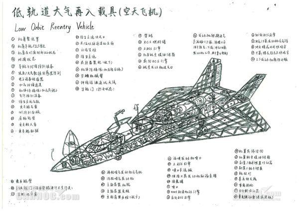 南航学生醉心飞行器 手绘航天器设计图