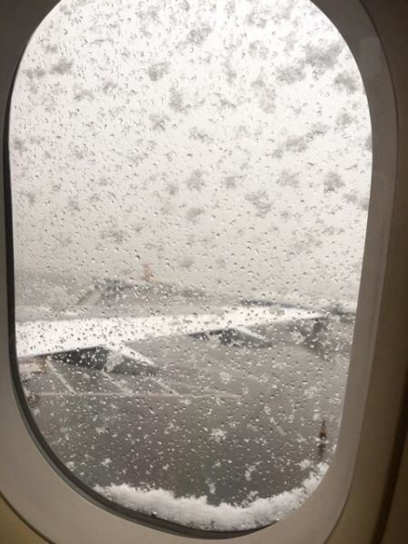 图片 北京大雪省际巴士停运 首都机场航班受影