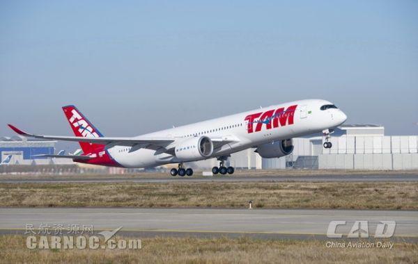 巴西塔姆航空首架空客A350XWB飞机成功首飞