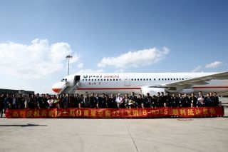 An Airbus A321 aircraft of Yunnan Hongtu Airlines touched down at Kunming Changshui International Airport at 3:00 p.m. on Dec. 22.