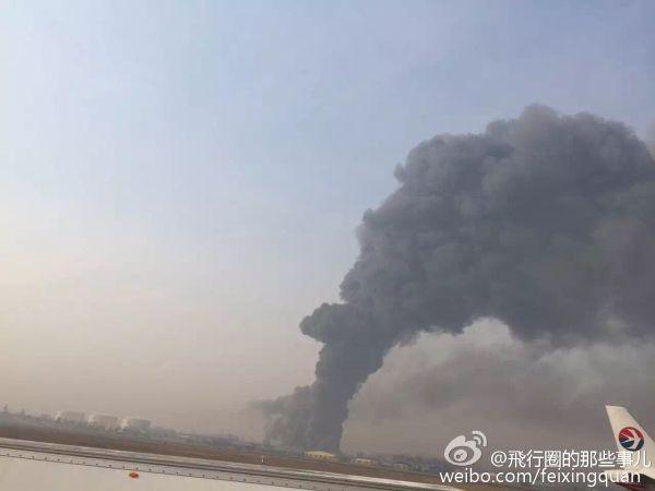 青岛机场附近工厂发生火情 未影响航班起降