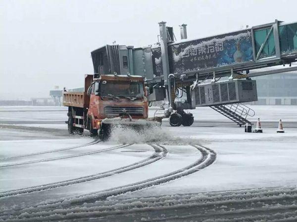 南昌机场因降雪关闭至10点 暂无航班起降