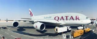 2016年巴林国际航展上的卡塔尔航空A380客机