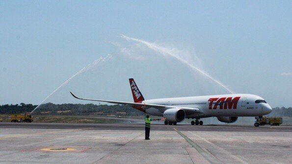 塔姆航空A350首航巴西国内航线 3月将飞美国