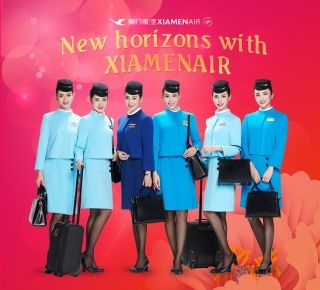 Xiamen Airlines made its debut at the landmark Times Square in New York City on Feb. 1.