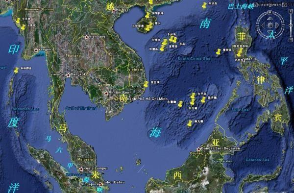 图:中国南海地图