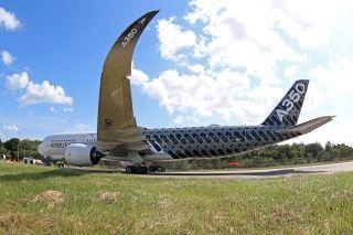 空客A350XWB客机 (摄影:沈铨)
