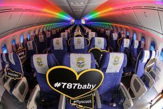 酷航波音787客机客舱 (摄影:沈铨)