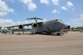 美国空军C-17战略运输机 (摄影:沈铨)