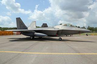 美国空军F-22战斗机 (摄影:沈铨)