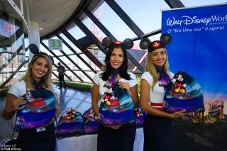 The whole event was Disney-themed, with staff wearing Mickey ears, and had bags with Mickey keyrings attached.