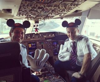 The Boeing 767 features Mickey Mouse, Donald Duck and Cinderella's Castle
