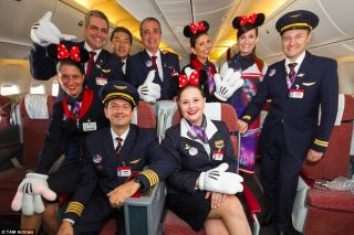 TAM passengers will be immersed in the Disney experience as soon as they set foot on board with the airline saying there will be a themed service, and special elements in the flight attendants' uniforms.