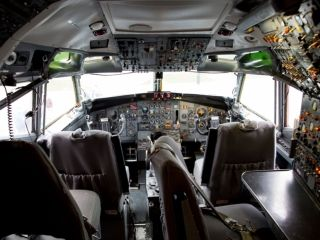 Controls still alight, the cockpit of the first Boeing 727 is emptied for the last time at the Museum of Flight in Seattle on March 2, 2016.  Jeremy Dwyer-Lindgren, Special for USA TODAY