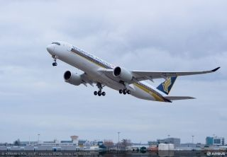 Singapore Airlines took delivery of its first A350 XWB in Toulouse, France on March 2, 2016.