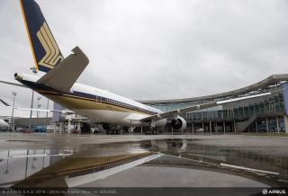 Singapore Airlines first A350 XWB is getting ready for its delivery.
