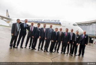 Singapore Airlines has taken delivery of its first A350 XWB in Toulouse, France, becoming the fifth operator of the all-new widebody airliner. With its unrivalled passenger flying experience and operational efficiency, the A350 XWB will form the backbone of Singapore Airlines' future mid-size widebody fleet.