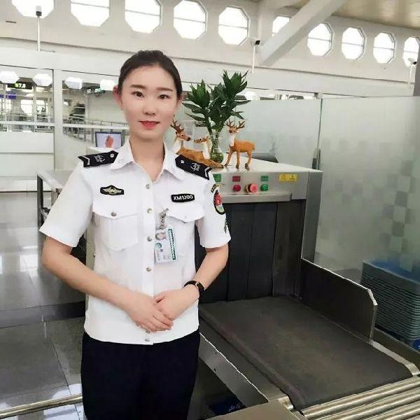 图片 厦门机场安检新人于艳杰之民航菜鸟成长