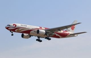Air China Boeing 777-200 (Registration B-2060) in Red Phoenix Livery