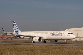 Airbus' A320neo Family flight test campaign expanded with the first flight of the initial A321neo version equipped with Pratt & Whitney Pure Power PW1100G-JM engines.