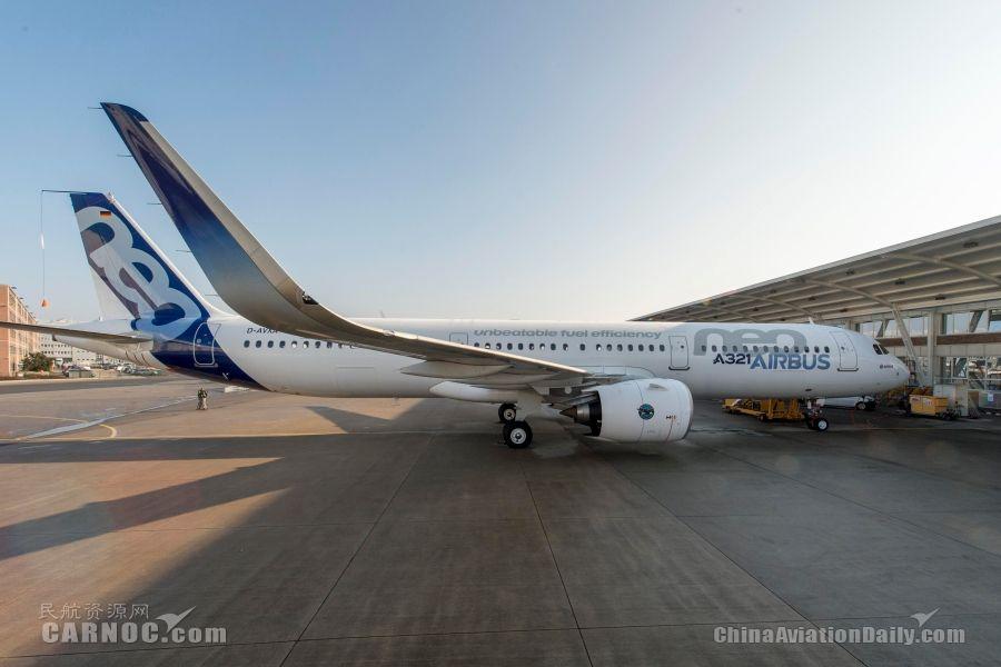 图集:配普惠发动机空客a321neo飞机首飞图片