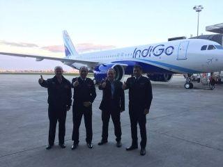 Crew for IndiGo A320neo delivery flight