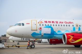 Air Guilin A319 (B-6192)/Photo by Weibo user @DS_T黑黑T