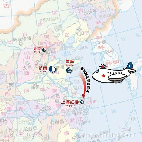 青岛到虹桥火车站高铁地图