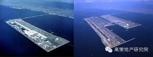 没有第二跑道的关西机场和现在的关西机场