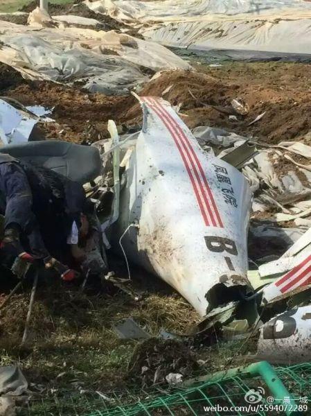 凤凰飞院一飞机坠毁田间  机上2人确认身亡