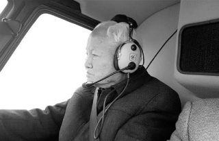 """92岁永康老伯坐直升机""""视察""""乡下老屋"""