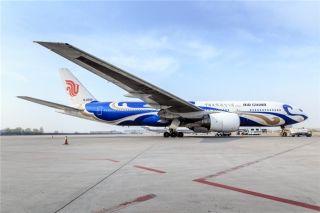 Air China Boeing 777-200 aircraft (Blue Phoenix)