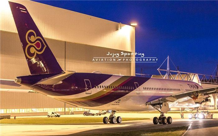 泰美丽首架空客A350飞机完成喷涂