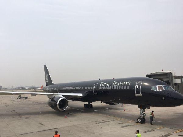 豪华又任性!环球旅行航班再次降落天津机场