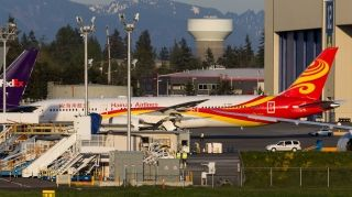 Hainan Airlines' first Boeing 787-9 Dreamliner, MSN LN 430, was spotted outside the Boeing Everett assembly plant on April 4. Photo by Woodys Aeroimages