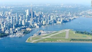 6. Billy Bishop Toronto City Airport (Canada) - Commonly known as Toronto Island Airport, Billy Bishop Toronto City Airport is a small facility located on an island in Lake Ontario in Canada's largest city. It's accessed by passenger ferry and is used by regional airlines and smaller air services.