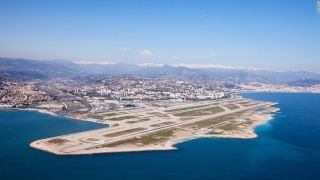 2. Nice Cote d'Azur Airport (France) - Nice Cote d'Azur Airport is located six kilometers southwest of Nice, in the Alpes-Maritimes department of France. It's the main point of arrival for passengers to the French Riviera.