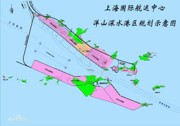 洋山深水港区规划示意图