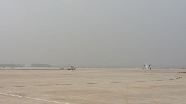 武汉机场机务完成二跑道校验飞行保障工作