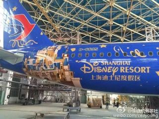 China Eastern Airlines' second Disney-themed aircraft/Photo from Weibo