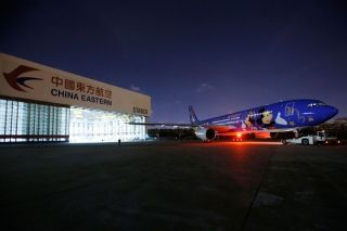China Eastern Airlines unveiled its first Disney-themed aircraft in Shanghai on April 25. Photo by CARNOC.com/Shen Quan