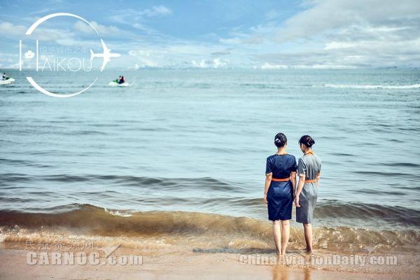 连自小在海边烟台长大的姑娘陈婉琳也对海口的海青睐有加.