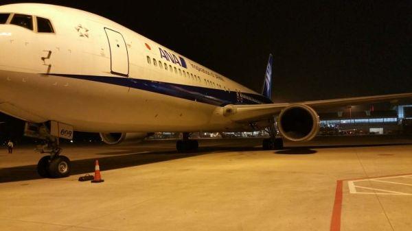 全日空首航武汉 机场机务圆满保障运营