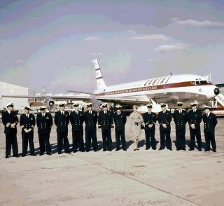 Crew of the first trans-Pacific jet service, 1959.