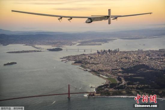 环球旅行第10段:世界最大太阳能飞机横跨美大陆