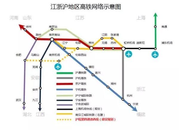 规划沪皖铁路新通道 应对上海机场空铁联运威胁