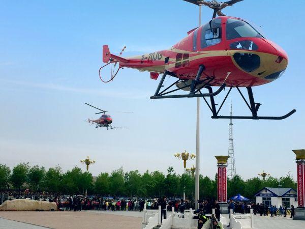 恩斯特龙直升机首飞 打造新疆云端体验新地标