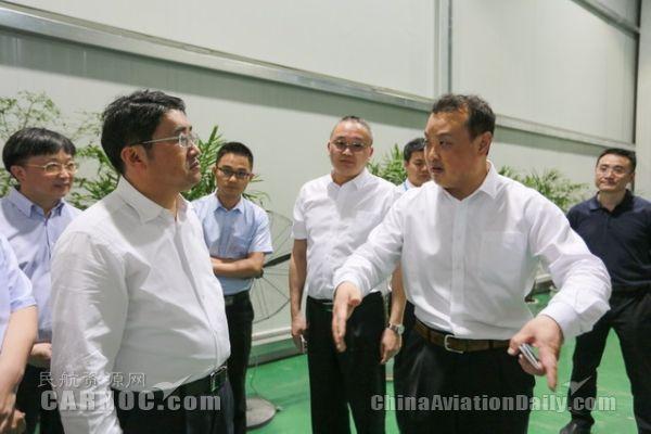 重庆市委常委凌月明调研华夏航空培训中心