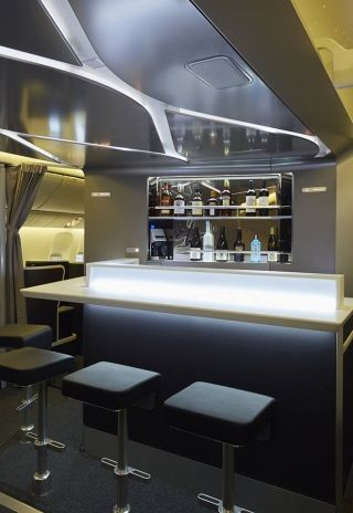The Bar and Lounge will offer a selection of nibbles and bites, beer, wine and spirits as well as a hot beverage selection with petit fours. Photo by Virgin Australia