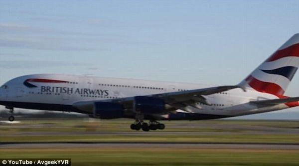 惊悚!英航机长在起落架近乎接地时终止着陆